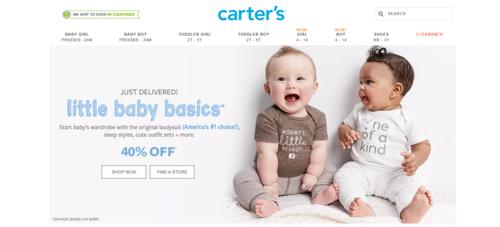 Carters 卡特童裝官網折扣