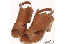 Ann'S魚口踝靴