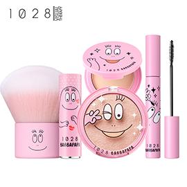 1028 x 泡泡先生全系列(睫毛膏+蜜粉餅+唇膏+打亮+蜜粉刷)