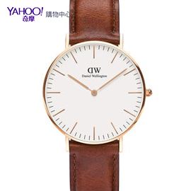 DW官方 Classic 36mm真皮皮革錶