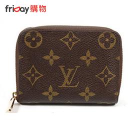 Louis Vuitton M60067 經典格紋信用卡拉鍊零錢包