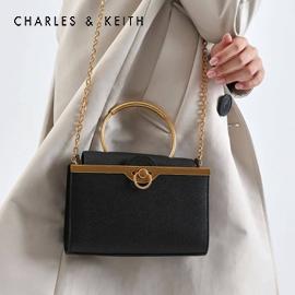 CHARLES & KEITH 官網限定|金屬環手拿包