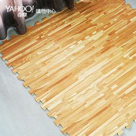 Abuns 和風耐磨拼花淺木紋巧拼地墊(72片裝-適用2坪)