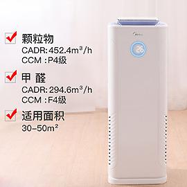 美的負離子空氣淨化器家用臥室除甲醛二手煙pm2.5霾客廳淨化機E33