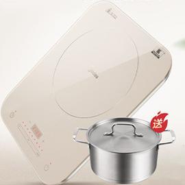 美的電磁爐火鍋炒菜家用智能正品電池爐灶特價炒菜全自動旗艦店