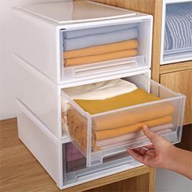收納箱抽屜式塑料透明儲物櫃子衣服內衣衣物整理箱神器衣櫃收納盒
