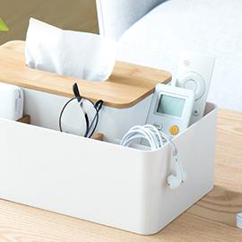 納川創意北歐風簡約家用客廳茶几多功能紙巾盒遙控器抽紙盒收納盒