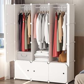 衣櫃簡易布組裝收納現代簡約單人出租房用布藝小塑料折疊宿舍衣櫥