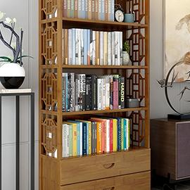 楠竹書架書櫃簡約現代書架落地簡易書架客廳實木置物架收納儲物櫃