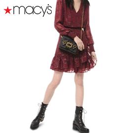 MICHAEL Michael Kors - Shiny Plaid Smocked Dress