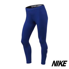 【NIKE】女子LOGO緊身褲-806928-480-藍