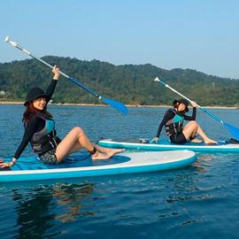 日月潭SUP立槳水上活動 站在國際景點中央