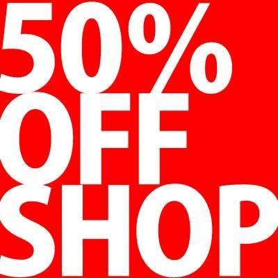 50%OFF SHOP 促銷優惠活動